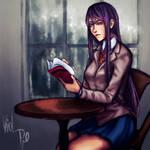 Doki Doki literature club|Yuri SPEED PAINT+VIDEO