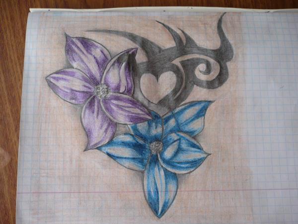 Flower tribal - flower tattoo