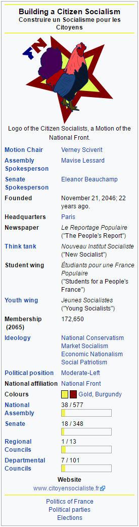 Citizen Socialists (France) - 2068 C.E.