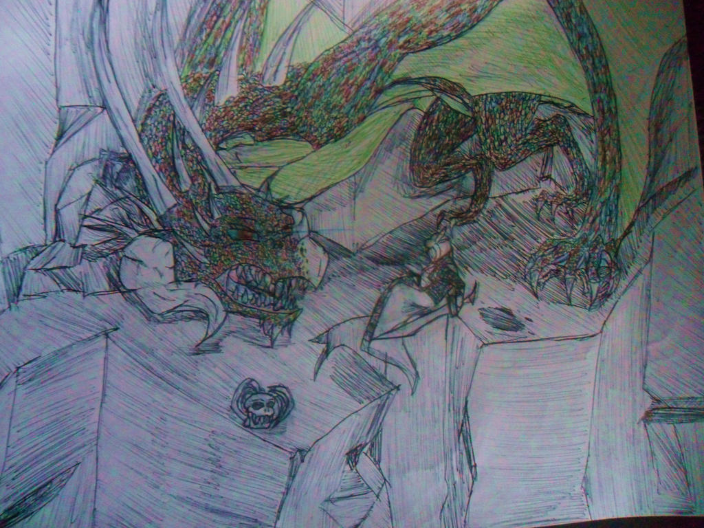 Vahl vs. Dragon by Stawking