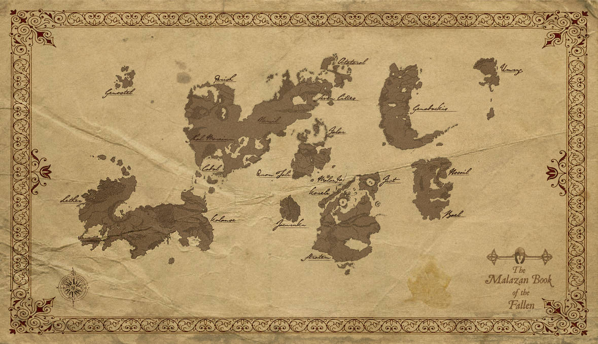 Malazan World Map By Corporal Nobbs On Deviantart