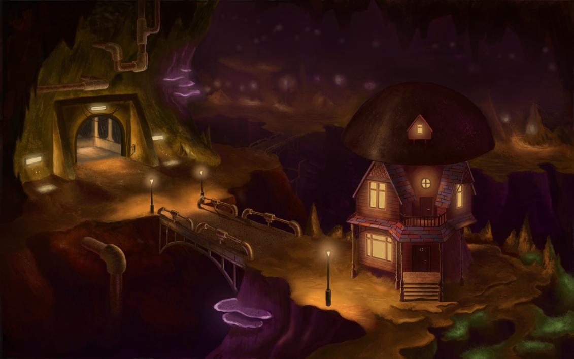 Mushroom City by goodsirxv