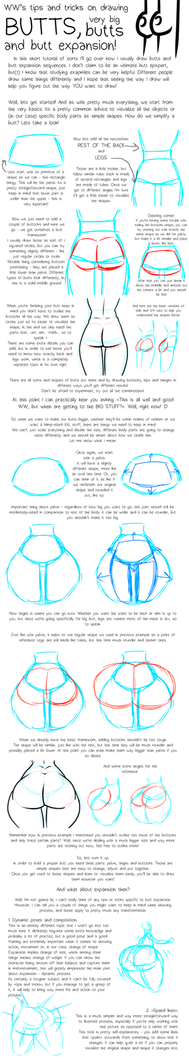 Tips and Tricks On Drawing Butts by WinterWarning