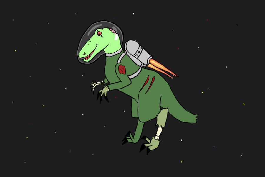 Holy Zombie Dinosaurs in Space