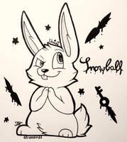 |INKTOBER| .:Day 9- Not an innocent bunny:. by WandaKinkay