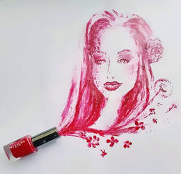 Portrait in nail polish