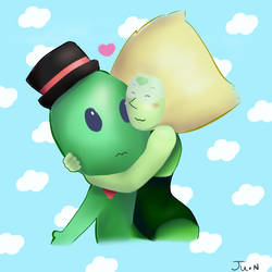 Peridot and her friend