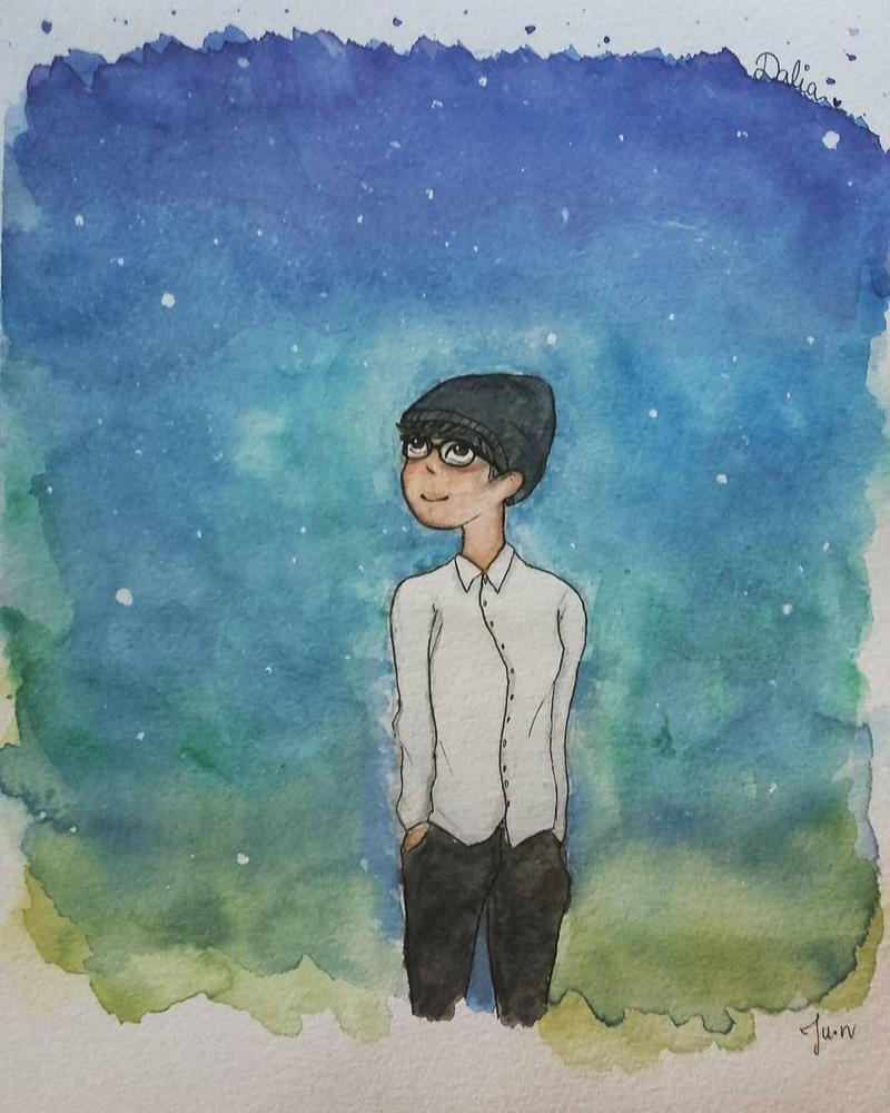 Friend watercolor by Nishijun