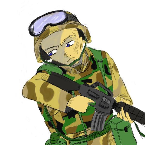 Anime Soldier Complete by Baketsu on DeviantArt