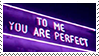 +STAMP | Purple  f2U #O11 -To me you are perfect by xPufflex