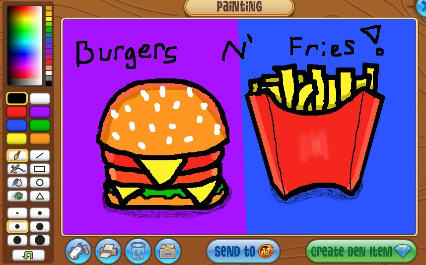 Burgers N' Fries! (AJ art) by sonata-foxy-freddy