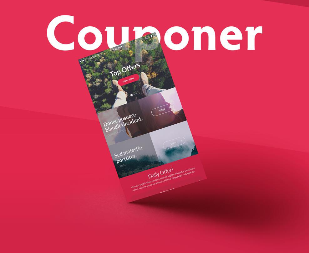 Work in progress - Couponer UI App kit by alfuciic