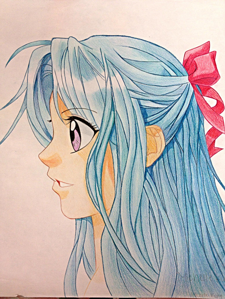 side view girl by moriko99 on deviantart