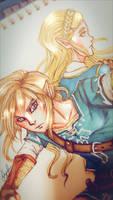 BotW Link ft Zelda by shortstackio