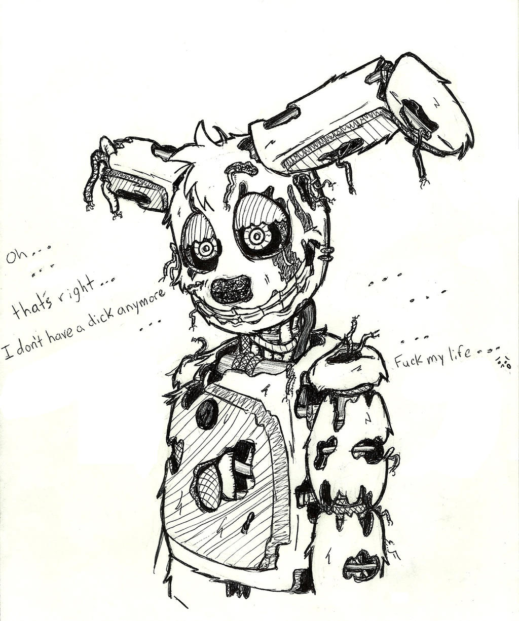 A Sad Springtrap By Lilttemiss On DeviantArt