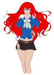 Red Hair Girl WIP by Prince-Thrakhath