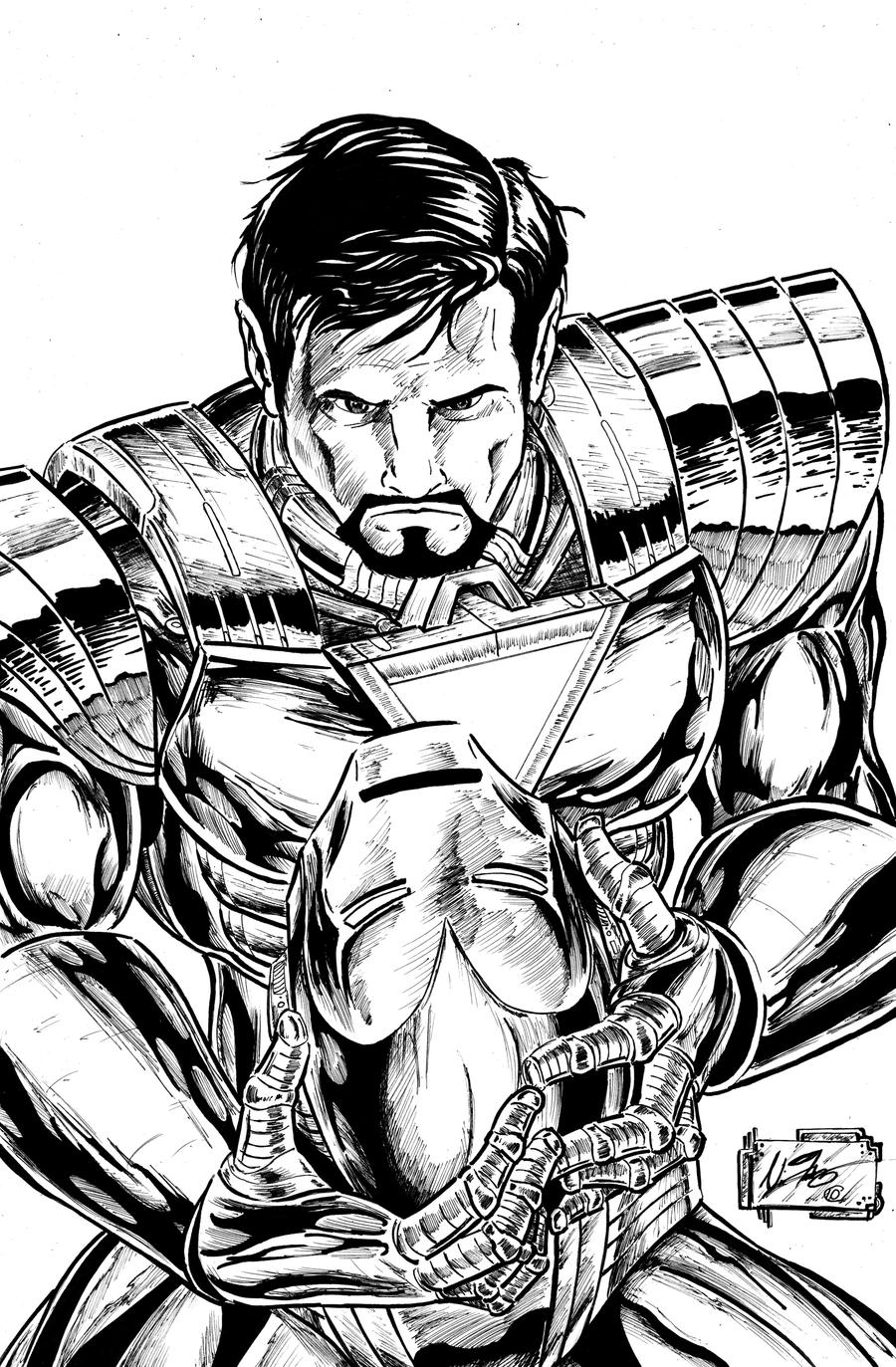 IRON MAN INKS by Lead-Base on DeviantArt