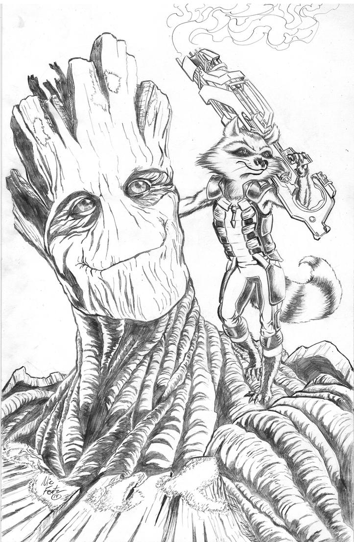 Groot and Rocket Racoon by Lead-Base on DeviantArt