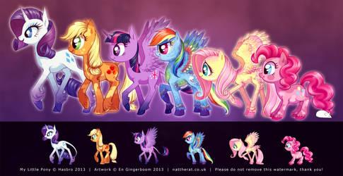 Ponies Ponies Ponies by nattherat