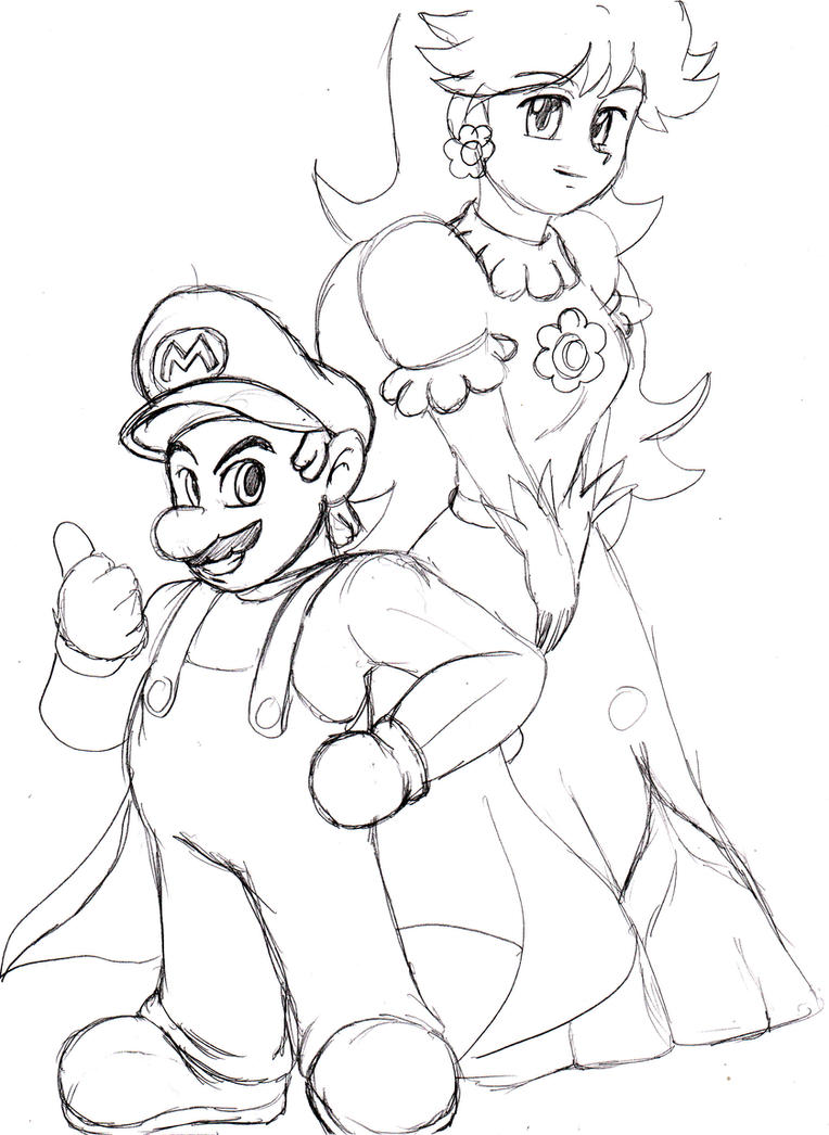 daisy mario coloring pages - photo#13