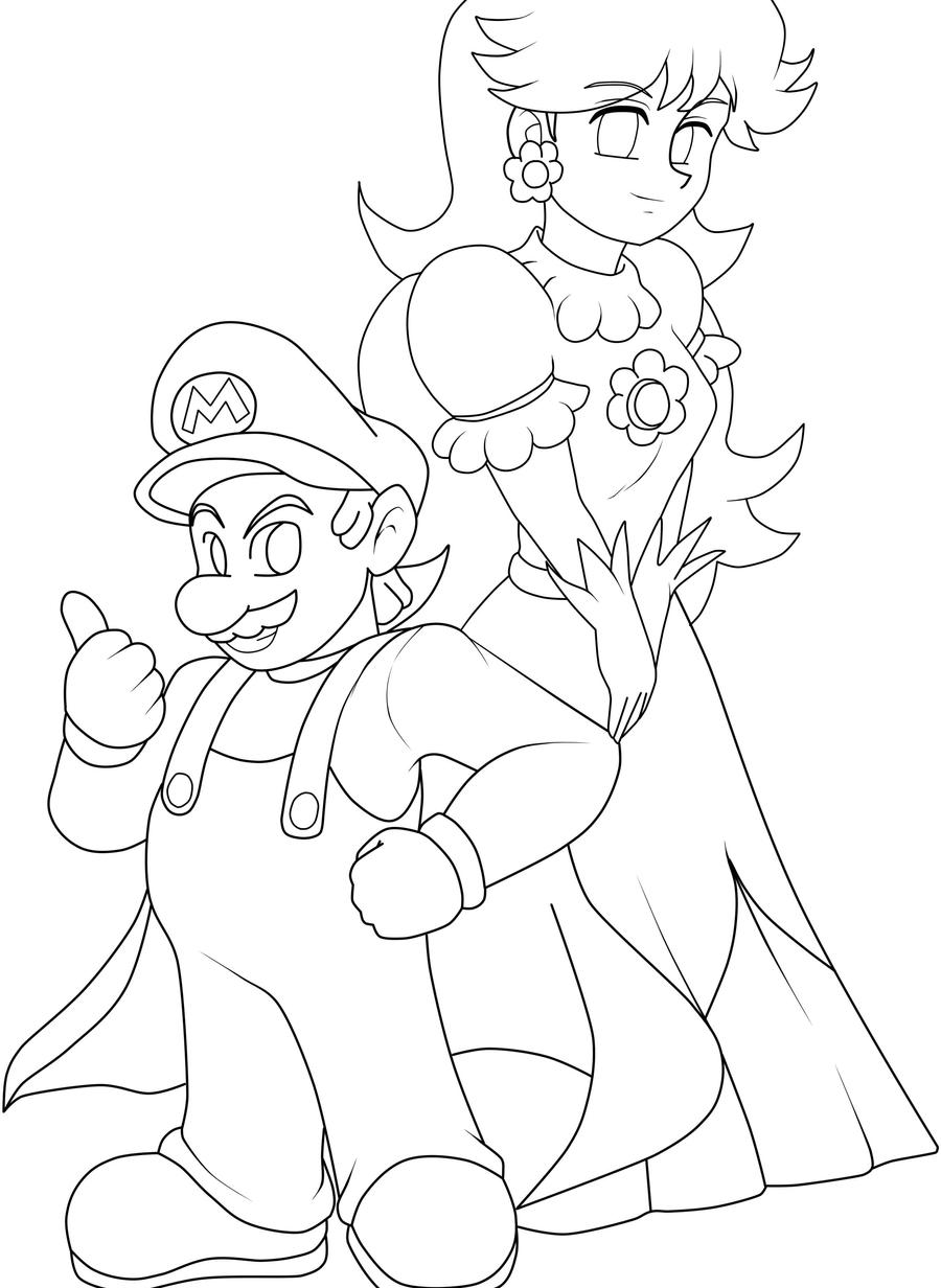 daisy mario coloring pages - photo#28