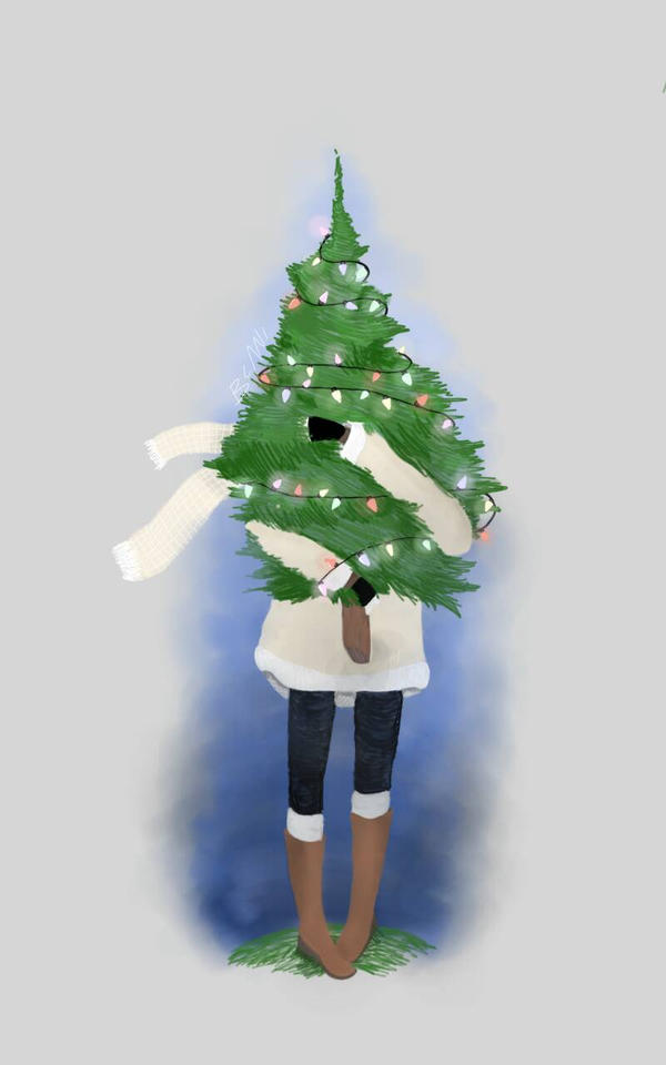 holdin that Christmas  tree by beaniebabyy