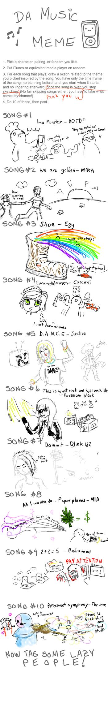 My music meme by aribel