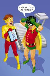 Kid Flash Robin commission