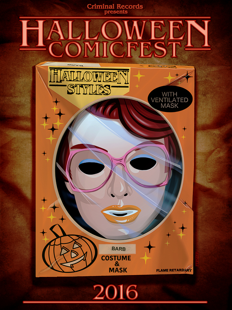 Criminal Records Halloween Comicfest poster by gatchatom