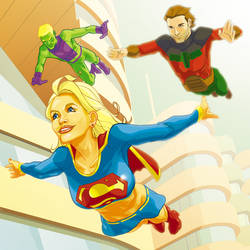 Supergirl and the Legion by gatchatom