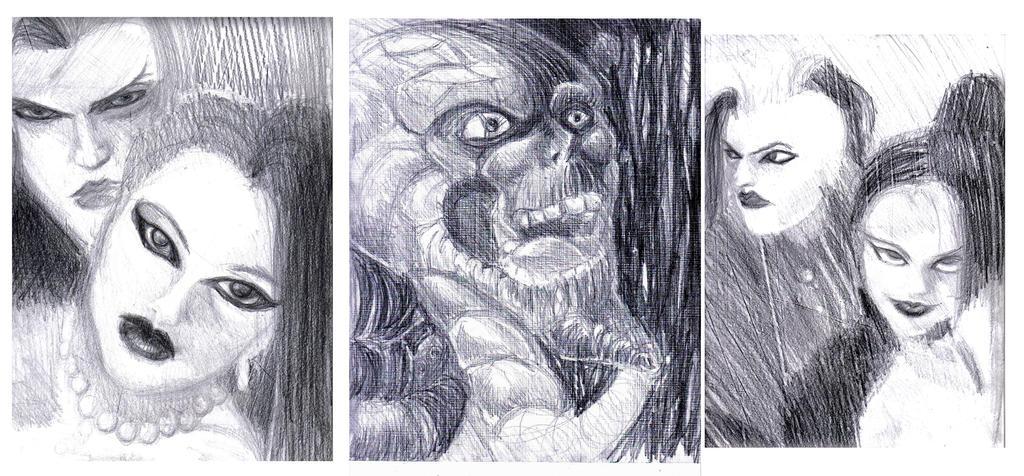 dibujos goticos a lapiz grafito by eimsamkeit