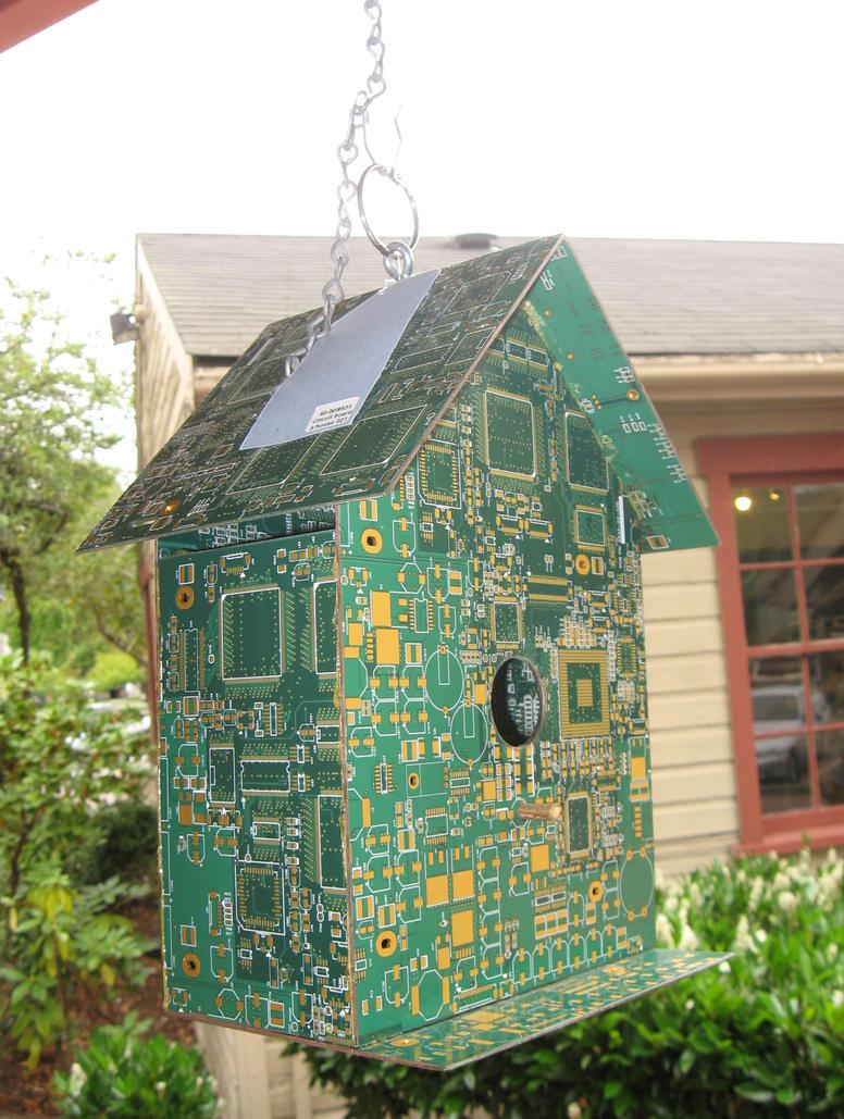 Electronic Bird House by GreenEyezz-stock