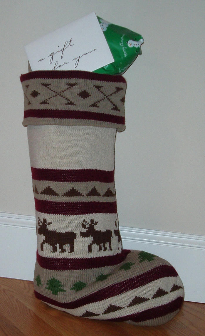 Christmas stocking stock 2 by GreenEyezz-stock