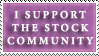 Support Stock Community by GreenEyezz-stock