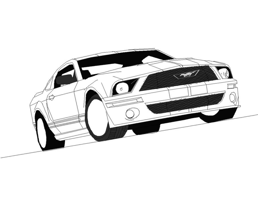 Ford Mustang Gt Line Art By Jonesycat79 On Deviantart