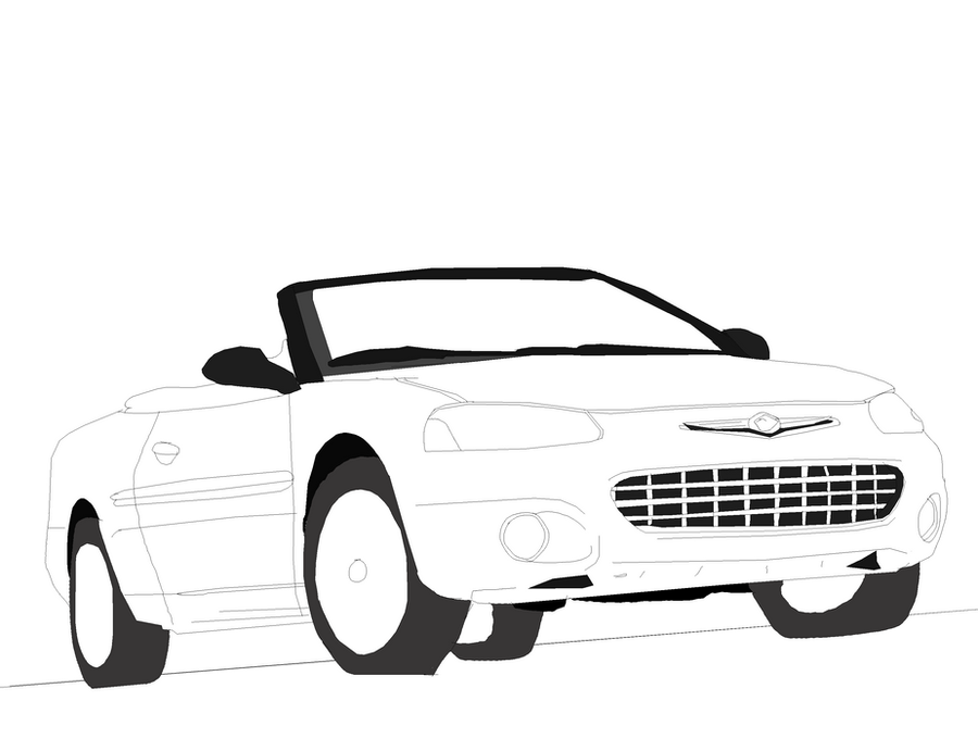chrysler sebring lineart by jonesycat79 on deviantart