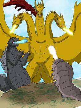 road to KOTM Day 5-Ghidorah three headed monster