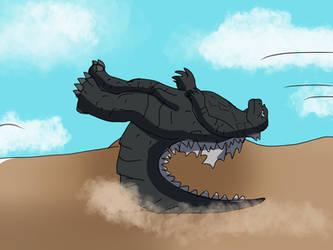Godzilla-road to KOTM Day 13-Godzilla vs Megalon by Jonesycat79