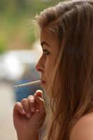 Smoking Girl by rasmus-art