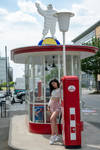 Gas Station with a Beauty by rasmus-art