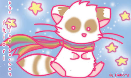 Shiori the white racoon by SunflowerRacoon