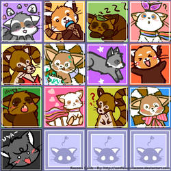 Racoon Card Collection xD by SunflowerRacoon