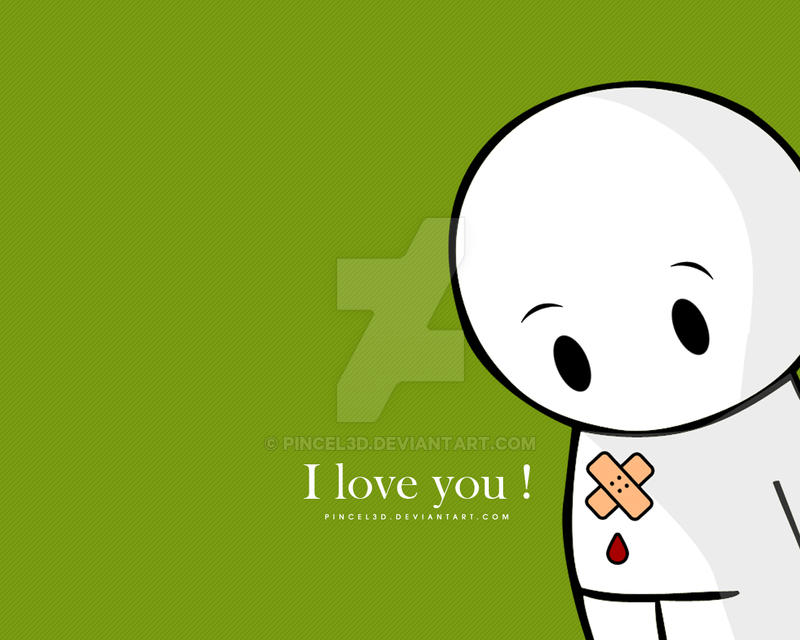 i love you wallpaper by pincel3d on deviantart