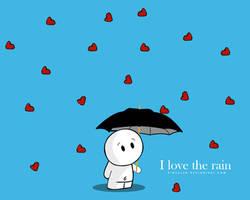 I love the rain by pincel3d