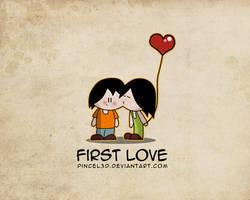 First kiss - Wallpaper by pincel3d