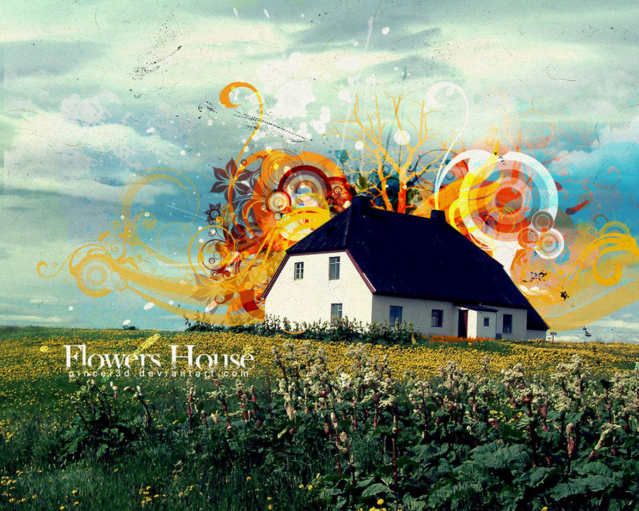 Flowers House by pincel3d