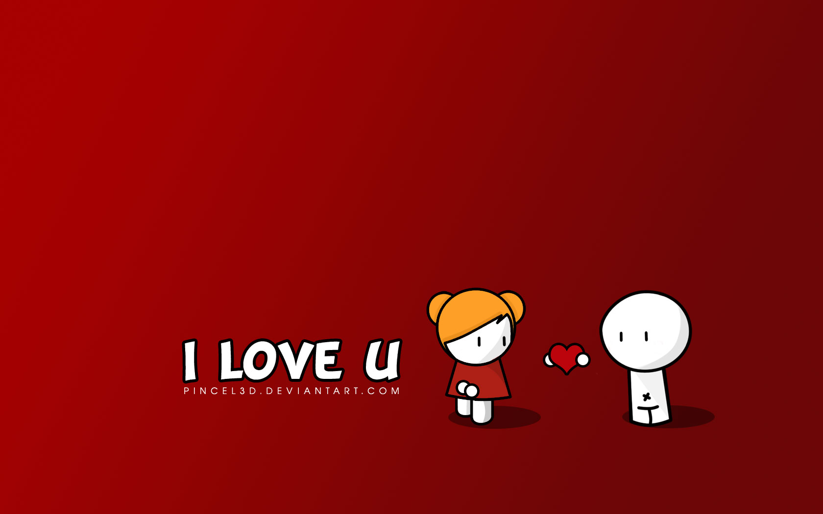 I love   Wallpaper by pincel3d I Love You Wallpaper 2
