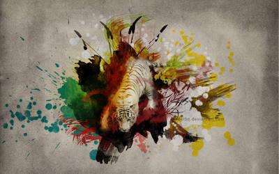 White tiger - Wallpaper by pincel3d