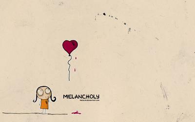 Melancholy girl ink