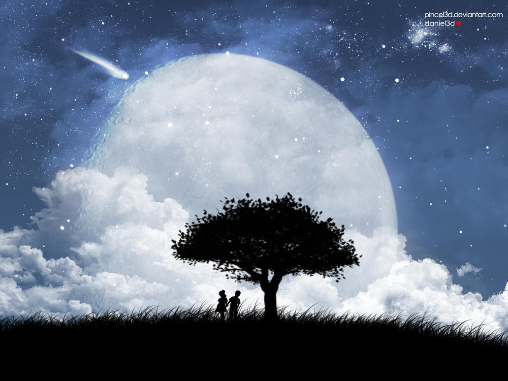 Love on the moon by pincel3d